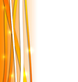 Abstract orange background with lines vector image