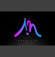 am artistic brush letter logo handwritten
