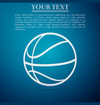 basketball ball on blue background sport symbol vector image vector image