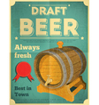 beer draft poster vector image