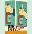 beer typography vintage grunge poster vector image vector image