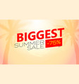 biggest summer sale poster tropical vector image