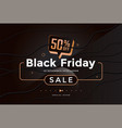 black friday sale modern poster design template vector image