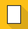Blank picture frame on yellow wall vector image vector image