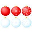 blue and red christmas balls vector image vector image