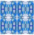 blue authentic seamless geometry vintage pattern vector image vector image