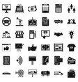business company icons set simple style vector image vector image