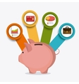 Business growth and money savings vector image