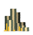cash stack of cash design in flat style vector image vector image
