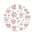 charity and fundraising round pink vector image vector image