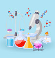chemistry equipment for experiments vials vector image