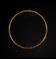 circle sparkle golden frame isolated on black vector image