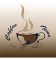 Coffee cup icon vector image vector image
