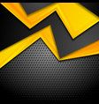 contrast yellow and black corporate design on dark vector image vector image