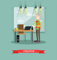creator concept in flat style vector image vector image