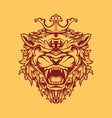 crowned lion design vector image vector image