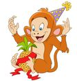 Cute and funny cartoon monkey
