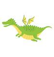 cute fat dragon flying vector image