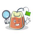 detective tea bag character cartoon vector image vector image