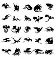 Dragon silhouettes set