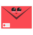 emoji envelopeemoji smiling envelopeemoji smiling vector image vector image
