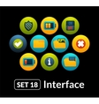 Flat icons set 18 - interface collection vector image