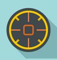 futuristic aim scope icon flat style vector image