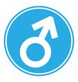 Gender male symbol button vector image