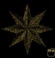 gold glitter star golden sparkle luxury design vector image vector image