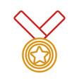 golden medal design vector image vector image