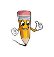happy cartoon pencils isolated vector image