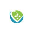 health medical logo template vector image vector image