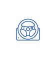 helm line icon concept helm flat symbol vector image
