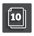 In pack 10 sheets sign icon 10 papers symbol vector image vector image