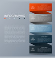 infographic design of 5 options vector image vector image