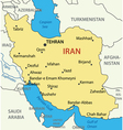 Islamic Republic of Iran - map vector image vector image