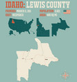 map lewis county in idaho vector image vector image