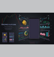 market trade binary option trading platform vector image vector image