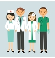 medical team doctor nurse group worker standing vector image