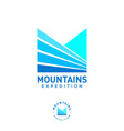 mountains expedition logo monogram fields peaks vector image
