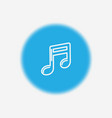 musical note icon sign symbol vector image