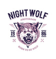 Night Wolf vector image vector image