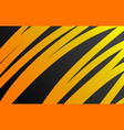 orange background curve lines vector image