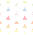 pastel colors gradient triangles seamless pattern vector image vector image