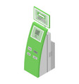 payment green equipment icon isometric style vector image vector image