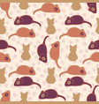 purple and pink cute cat stitched mouse vector image vector image