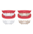 realistic teeth isolated white 3d smile vector image
