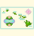 rough and not detailed hawaiian islands vector image vector image
