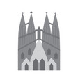 sagrada familia church icon image vector image