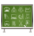 school and education objects vector image